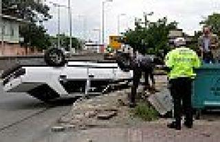 Sokağa çıkma yasağında kaza