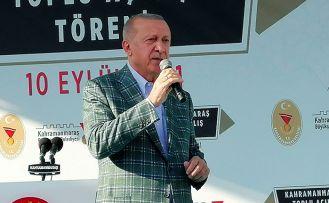 """Erdoğan, """"19 yılda Kahramanmaraş'a 38 katrilyon liralık yatırım yaptık."""""""