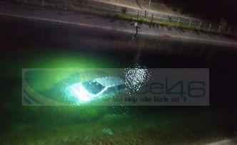 Su kanalına düşen otomobilde 1 kişi öldü