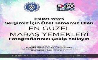 EXPO 2023 Sergisi için Maraş Yöresel Yemekleri fotoğrafınızı çekip yollayın