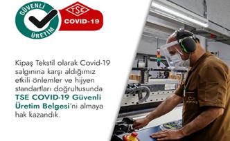 Kipaş'a güvenli üretim belgesi