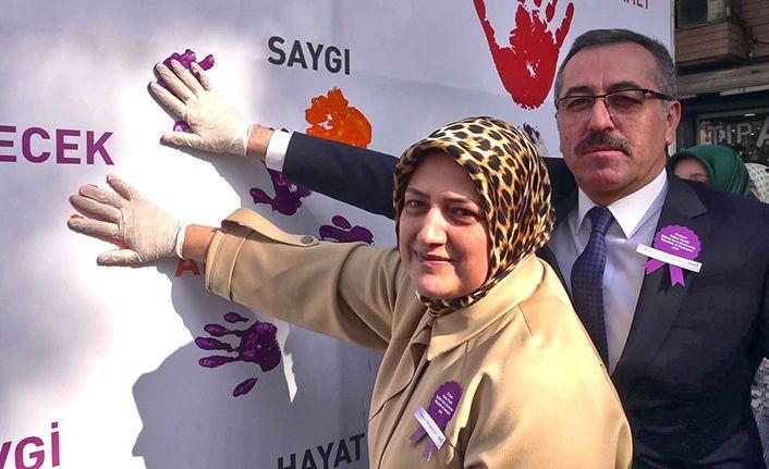 Güngör'den Kadına şiddete hayır mesajı